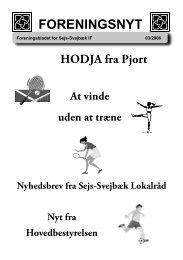 Foreningsnyt nr. 03/2006 - Sejs Svejbæk Idrætsforening