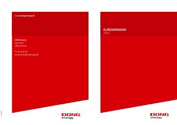ELREGNINGENS ABC - DONG Energy