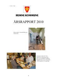 ÅRSRAPPORT 2010 - Hemne kommune