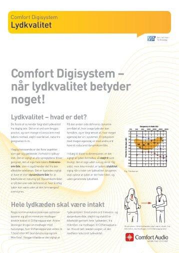 Comfort Digisystem – når lydkvalitet betyder noget! - Comfort Audio