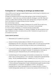 lovforslag om ændringer på skatteområdet - Kreston Danmark