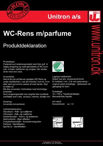 WC-Rens m/parfume - Unitron