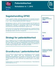 Grundkursus i patientsikkerhed - Sygehus Vendsyssel - Region ...