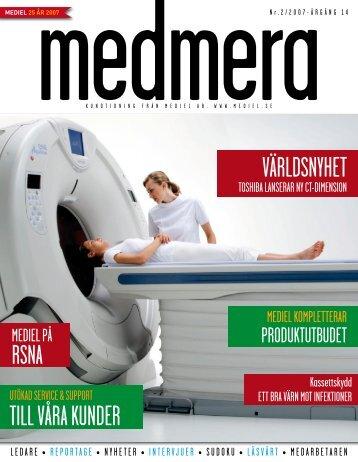 TILL VÅRA KUNDER VÄRLDSNYHET - Mediel AB