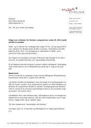 Klage over reklamer for Nordea i programmer ... - Kulturstyrelsen
