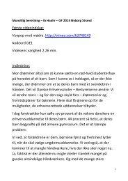 Læs Ib Haahrs mundtlige beretning her - Danske Erhvervsskoler