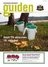 Støtt TV-aksjonen 19. oktober - Byen vår, Kongsvinger
