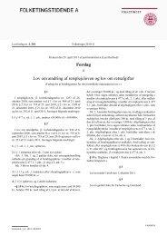 Forslag Lov om ændring af retsplejeloven og lov ... - RegnskabsMail