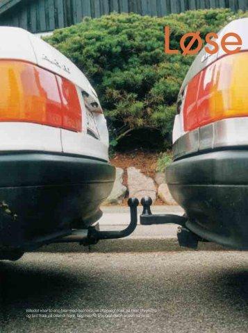 Billedet viser to ens biler med henholdsvis aftageligt træk på bilen til ...