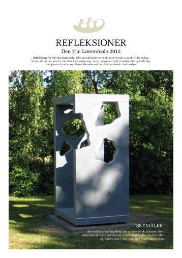 REFLEKSIONER - Den frie Lærerskole