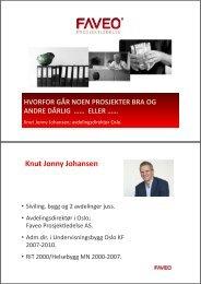 Knut Jonny Johansen - Norges Bygg- og Eiendomsforening