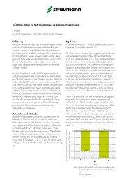 10-Jahres-Daten zu SLA-Implantaten im zahnlosen Oberkiefer