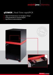 qtower | Real-Time rapidpcr - Analytik Jena AG