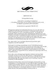 Udveksling af oplysninger mellem politi, socialmyndighed og psykiatri