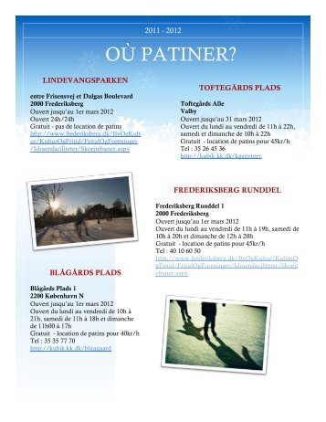 OÙ PATINER? - Copenhague Accueil