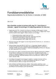 Regnskabsmeddelelse for de første ni måneder af ... - Novo Nordisk