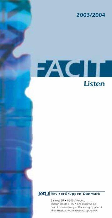 Listen - Martinsen Statsautoriseret Revisionspartnerselskab