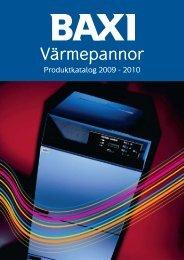 Produktkatalog 2009-2010 - Baxi