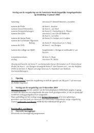 Verslag van de vergadering d.d.31 januari 2002 - Gemeente ...