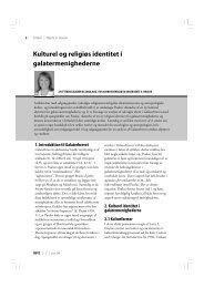 Kulturel og religiøs identitet i galatermenighederne