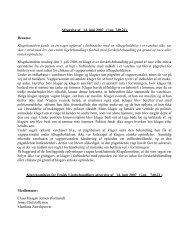Afgørelse af 14. juni 2007 (j.nr. 740.21) - Klagekomitéen for Etnisk ...