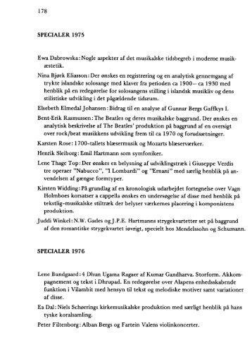 178 SPECIALER 1975 Ewa Dabrowska: Nogle aspekter af det ...