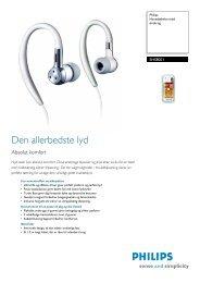 SHS8001/00 Philips Hovedtelefon med ørekrog - Ingram Micro