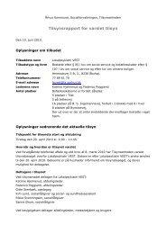 Varslet tilsyn Lokalpsykiatri Vest 20. april 2010 - Aarhus.dk