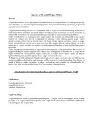 Afgørelse af 14. juni 2007 (j.nr. 740.23) - Klagekomitéen for Etnisk ...