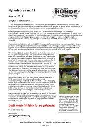 Nyhedsbrev - Januar 2013 - nordjysk hundetræning
