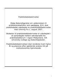 Praktikstedsbeskrivelse, døgnafdelingen på Egebæksvej - Heimdal
