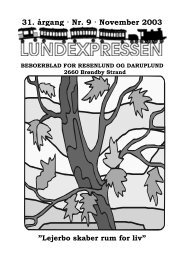 31. årgang · Nr. 9 · November 2003 - lundens.net