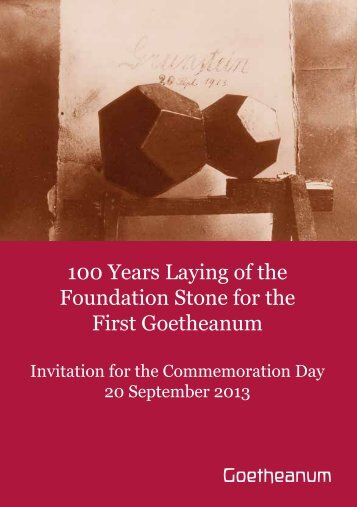 100 Years Laying of the Foundation Stone for the First Goetheanum