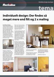 Individuelt design: Der findes så meget mere end filt og 2 ... - Rockidan