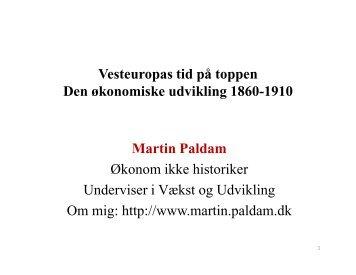 Modernitens Verden - Paldam, Martin