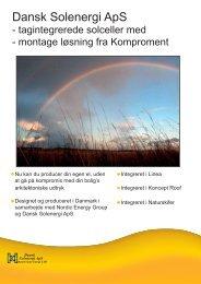 Tegl og skifer intergreret solceller - Dansk Solenergi RI