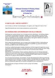 Læs mere om Børnehjertefonden ved at trykke på ... - Rotary Danmark