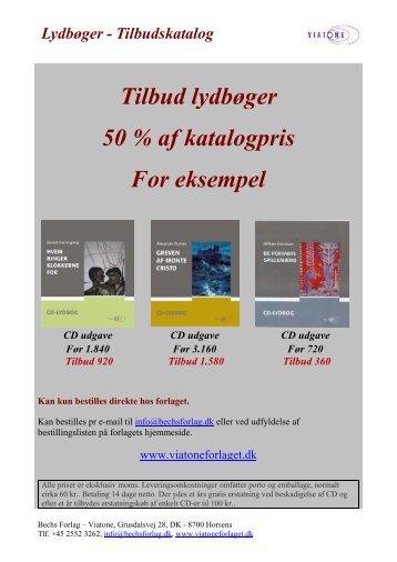 Tilbud lydbøger 50 % af katalogpris For eksempel - Bechs Forlag ...