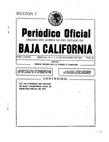 j.lleriúdicn 'Ilficial - Gobierno del Estado de Baja California
