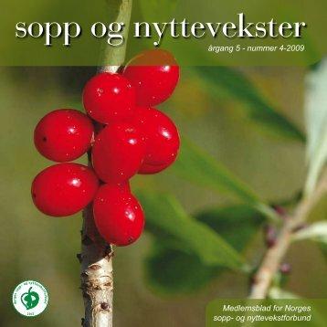 Nr 4 - 2009 i sin helhet - Norges sopp- og nyttevekstforbund
