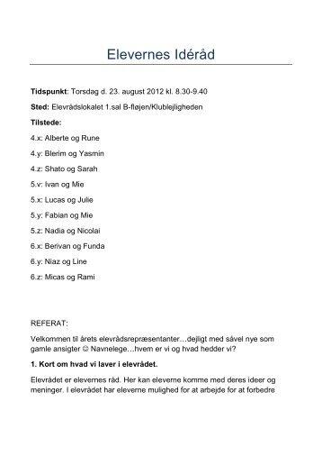 Referat 23.08.12 - Herstedlund Skole