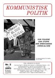 Kommunistisk Politik 2, 2003