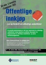 430151 Offentlige innkj¿p - Tekniske Foreningers Servicekontor AS