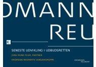 SENESTE UDVIKLING I UDBUDSRETTEN - Kromann Reumert
