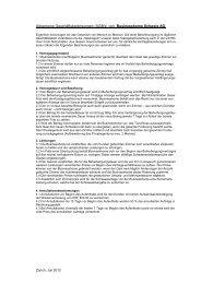 Allgemeine Geschäftsbedingungen Businesshome Schweiz AG