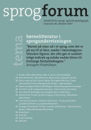 Børne- og ungdomslitteratur i læreruddannelsens fremmedsprogs