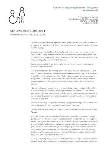 Formandens beretning vedr. 2010 som pdf-fil - Klubben for Brugere ...