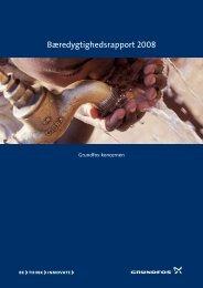 Bæredygtighedsrapport 2008