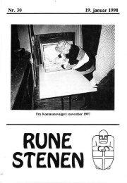 19. januar 1998 - Runestenen