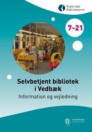 Læs folderen Selvbetjent bibliotek i Vedbæk (pdf) - Rudersdal ...